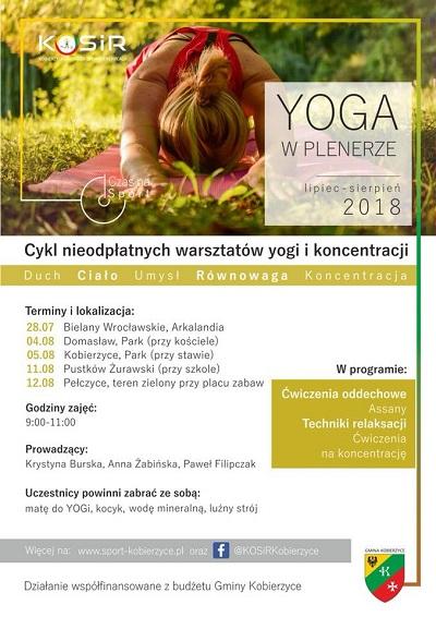 Darmowe warsztaty z jogi i koncentracji w Kobierzycach